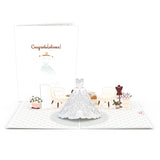 Wedding Dress                                   pop up card - thumbnail