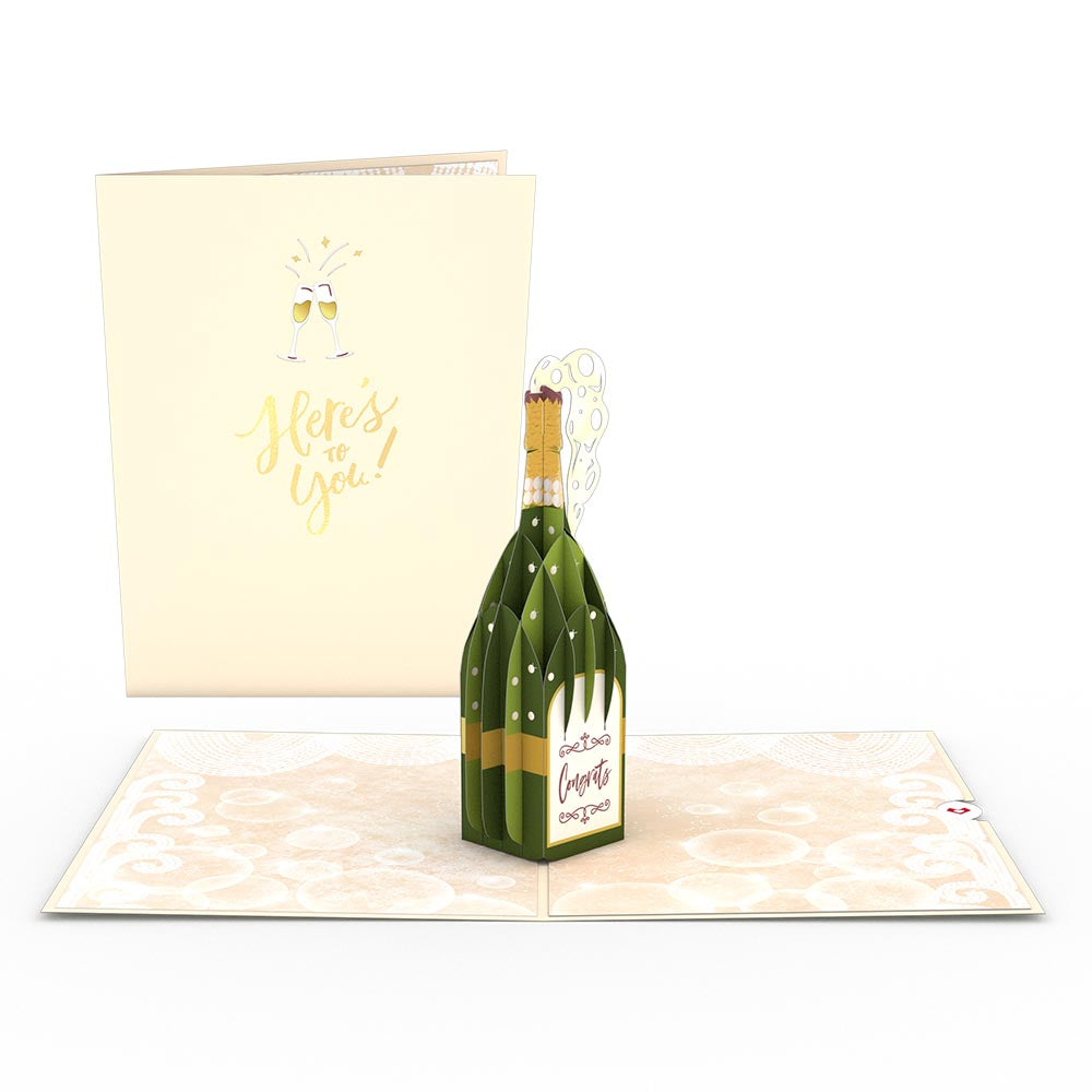 Here's to You Champagne Pop-Up Card