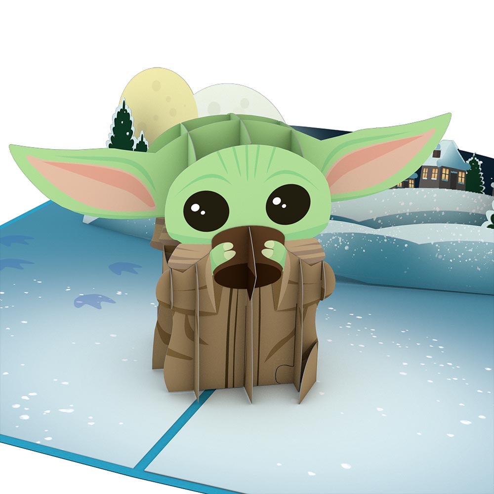 Star Wars™ The Mandalorian™ The Child: Warm Holiday Wishes Pop Up Card