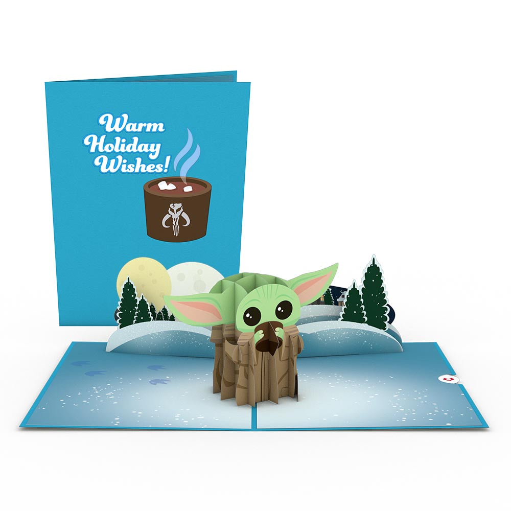 Star Wars™ The Mandalorian™ The Child: Warm Holiday Wishes 3D card