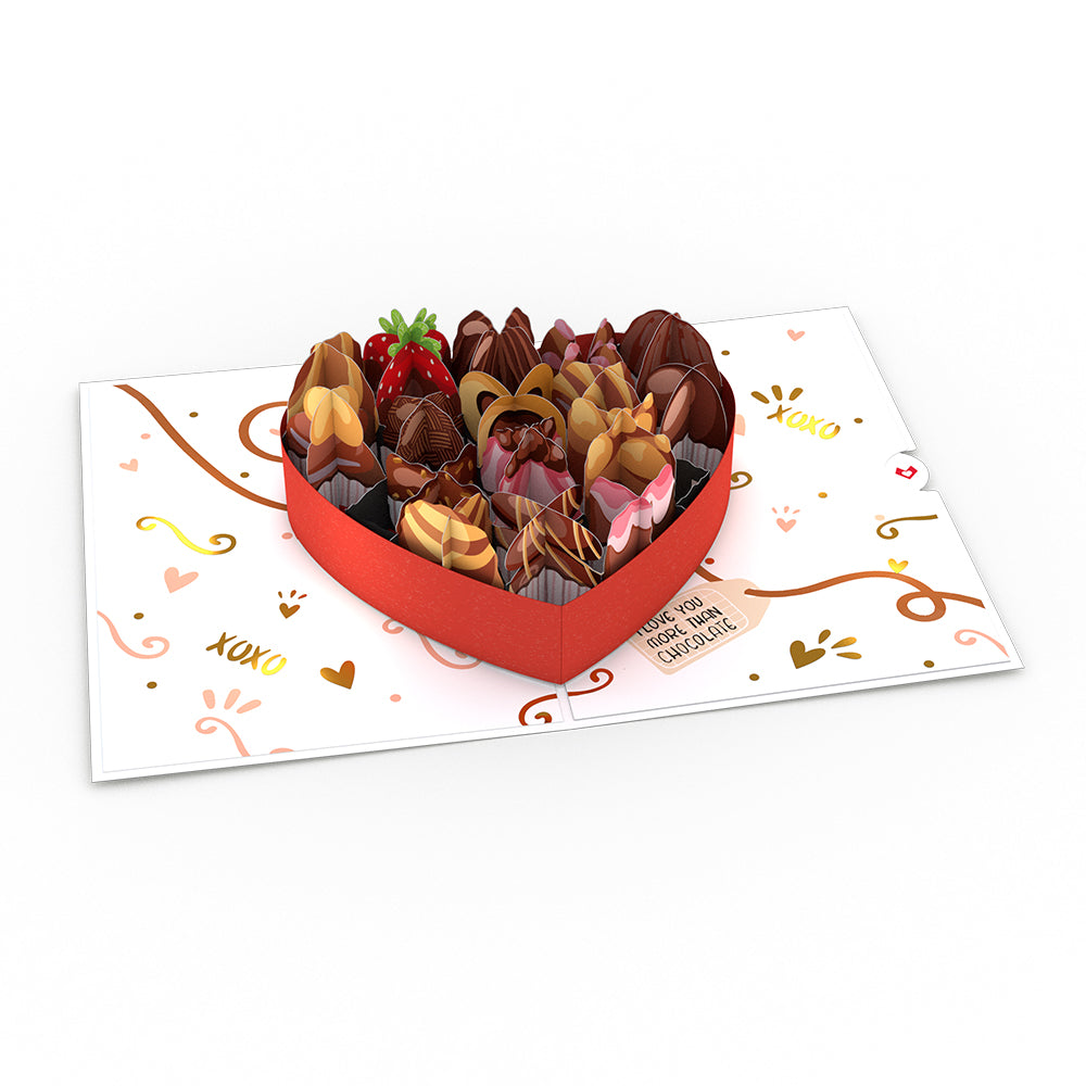 Love You More Than Chocolate Pop-Up Card