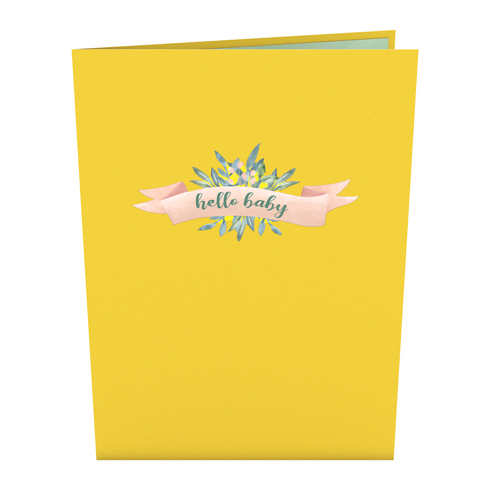 Yellow Baby Carriage Pop-Up Card