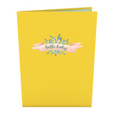 Yellow Baby Carriage                                   pop up card - thumbnail