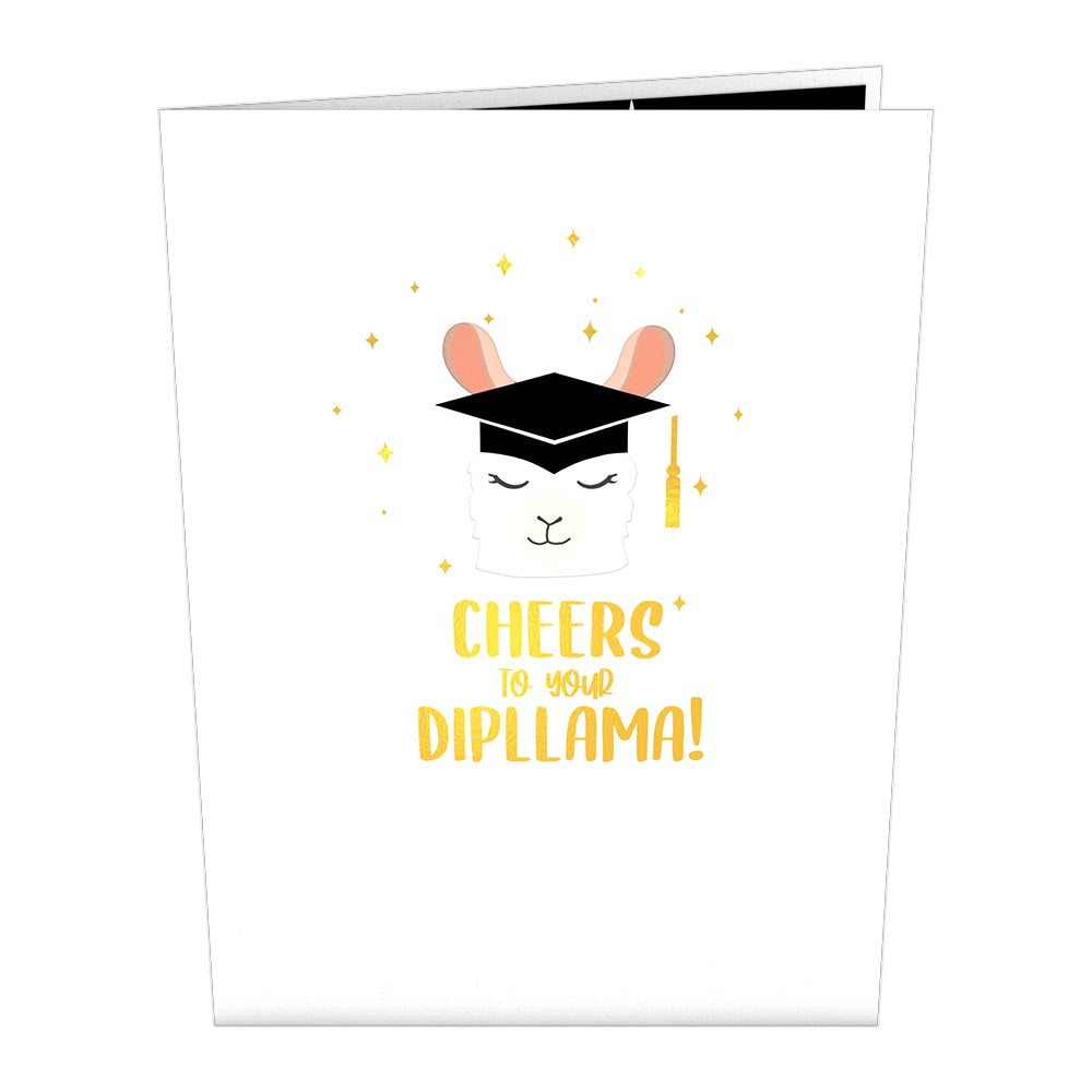 Graduation Llama             pop up card