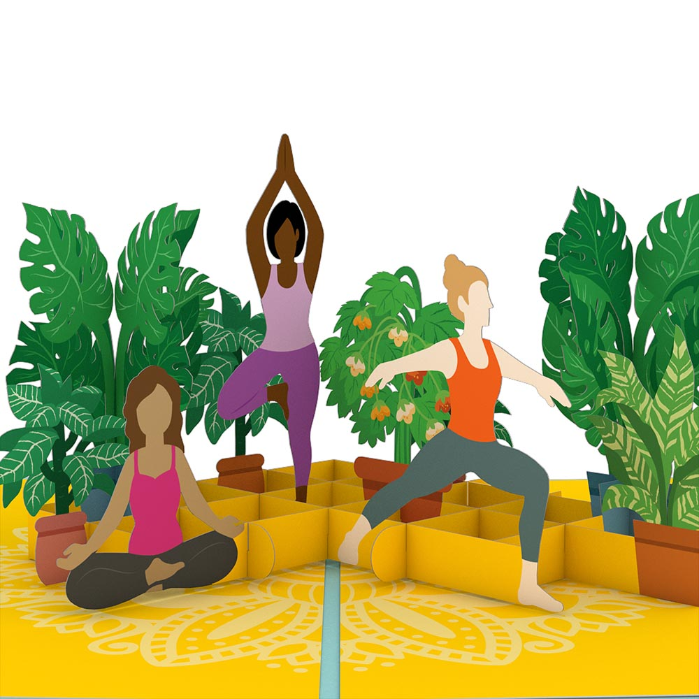 Yoga Poses Pop Up Card