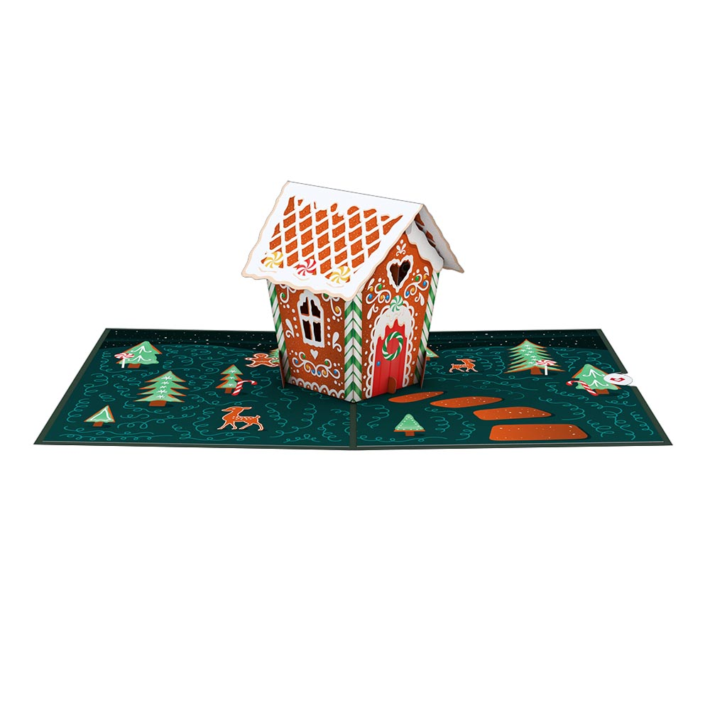 Gingerbread House             pop up card