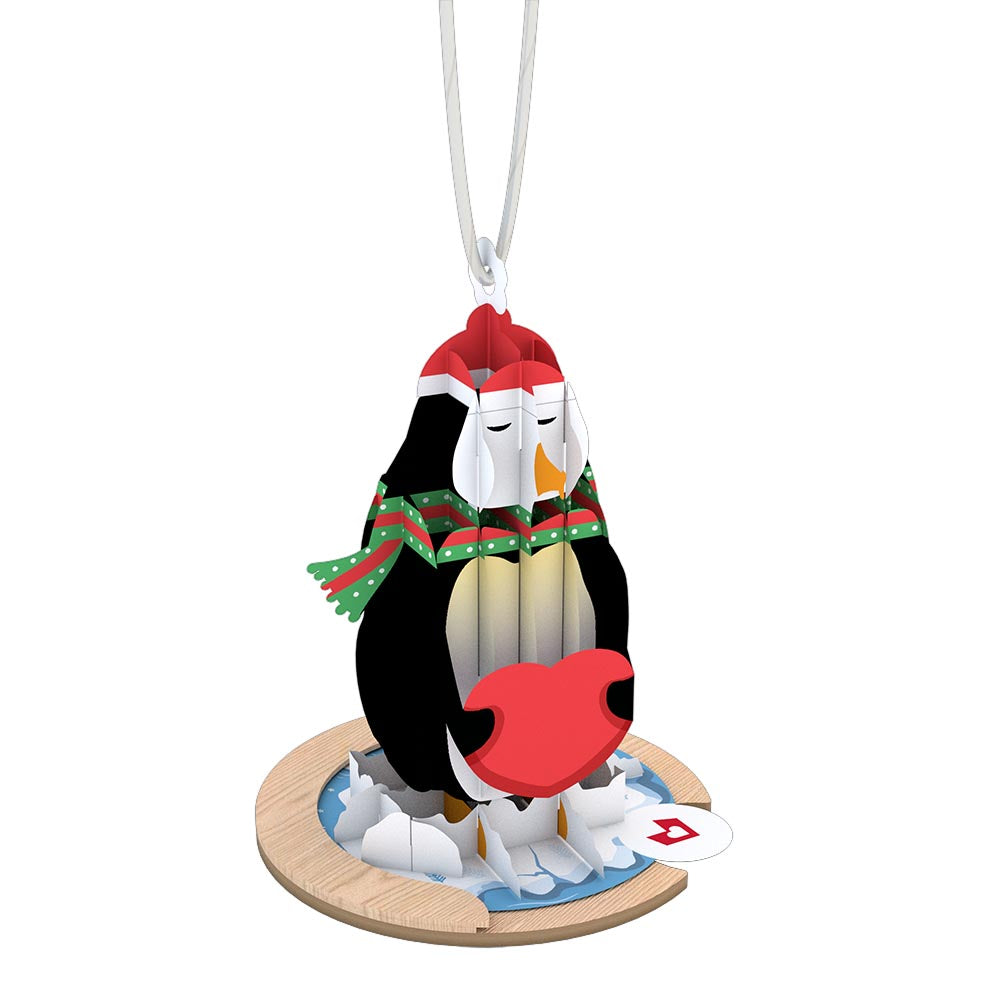 Holiday Penguin Ornament             pop up card