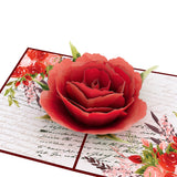 Love Rose Bloom                                   pop up card - thumbnail