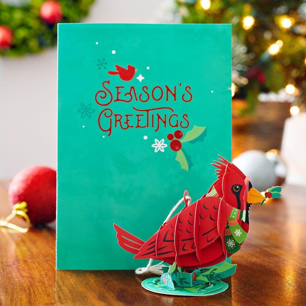 Holiday Cardinal Card with Ornament