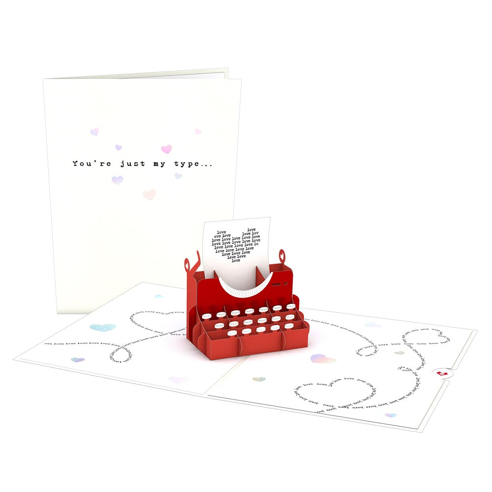 You're Just My Type Pop-Up Card