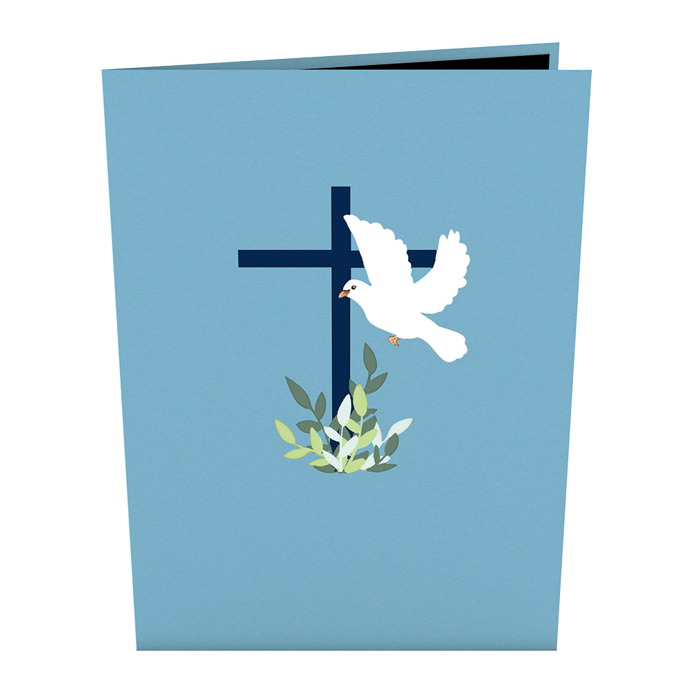 Confirmation Dove Pop Up Card