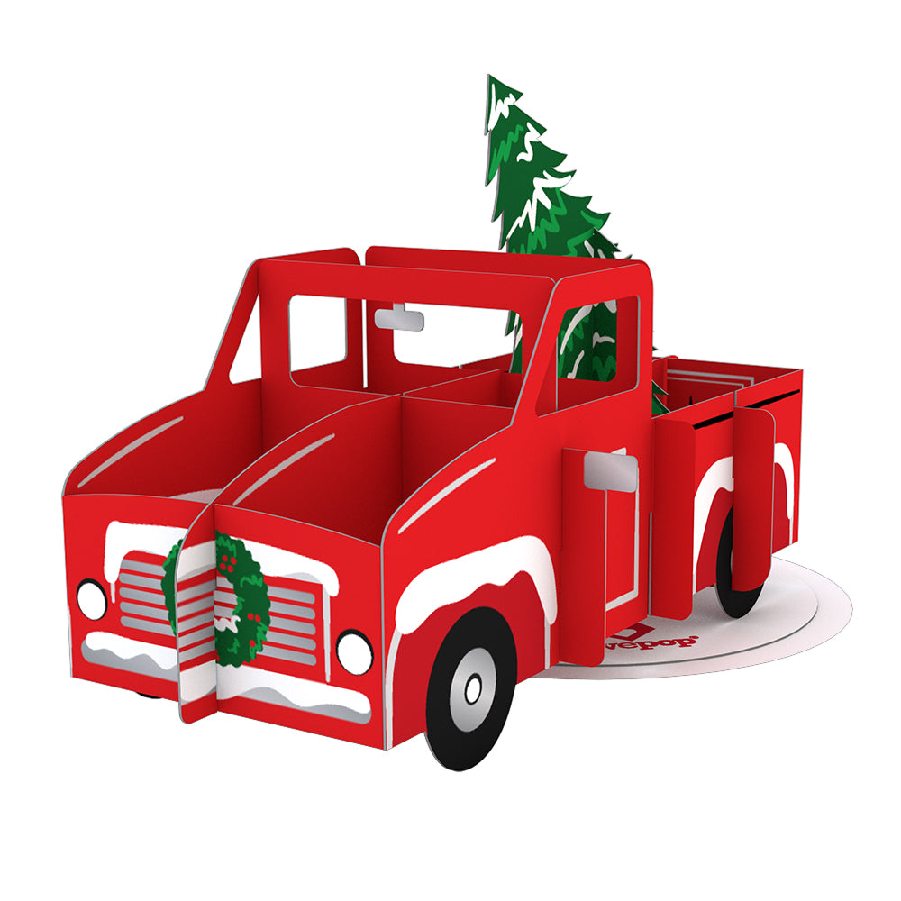Stickerpop™: Holiday Truck (1-Pack)             pop up card
