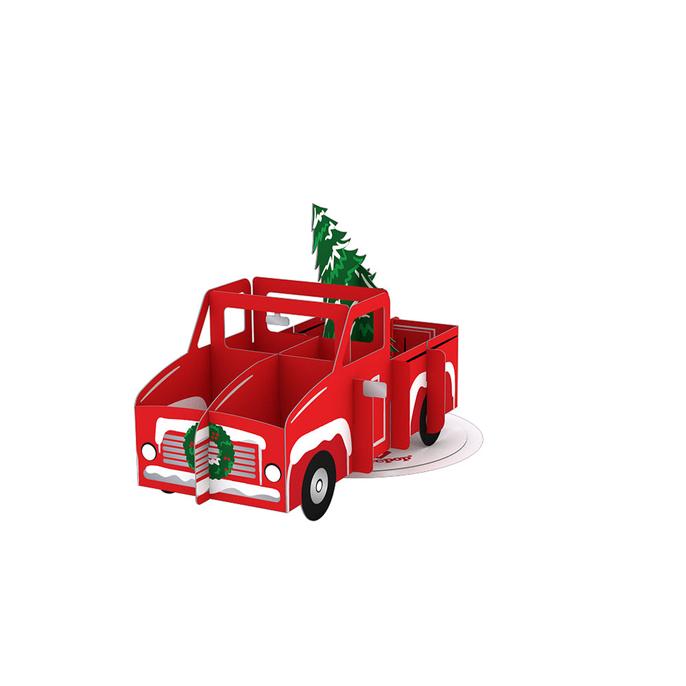 Stickerpop™: Holiday Truck (5-Pack)             pop up card