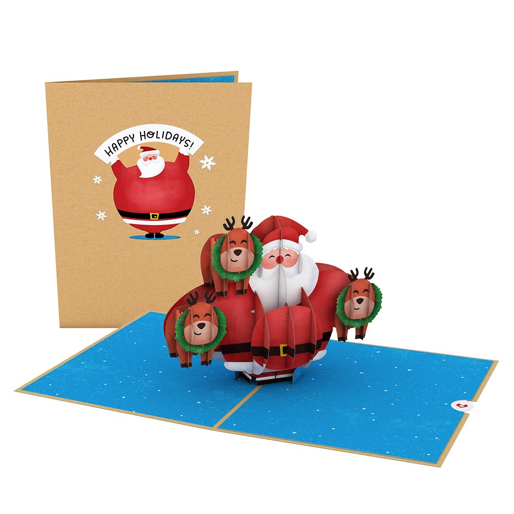 Jolly Santa             pop up card