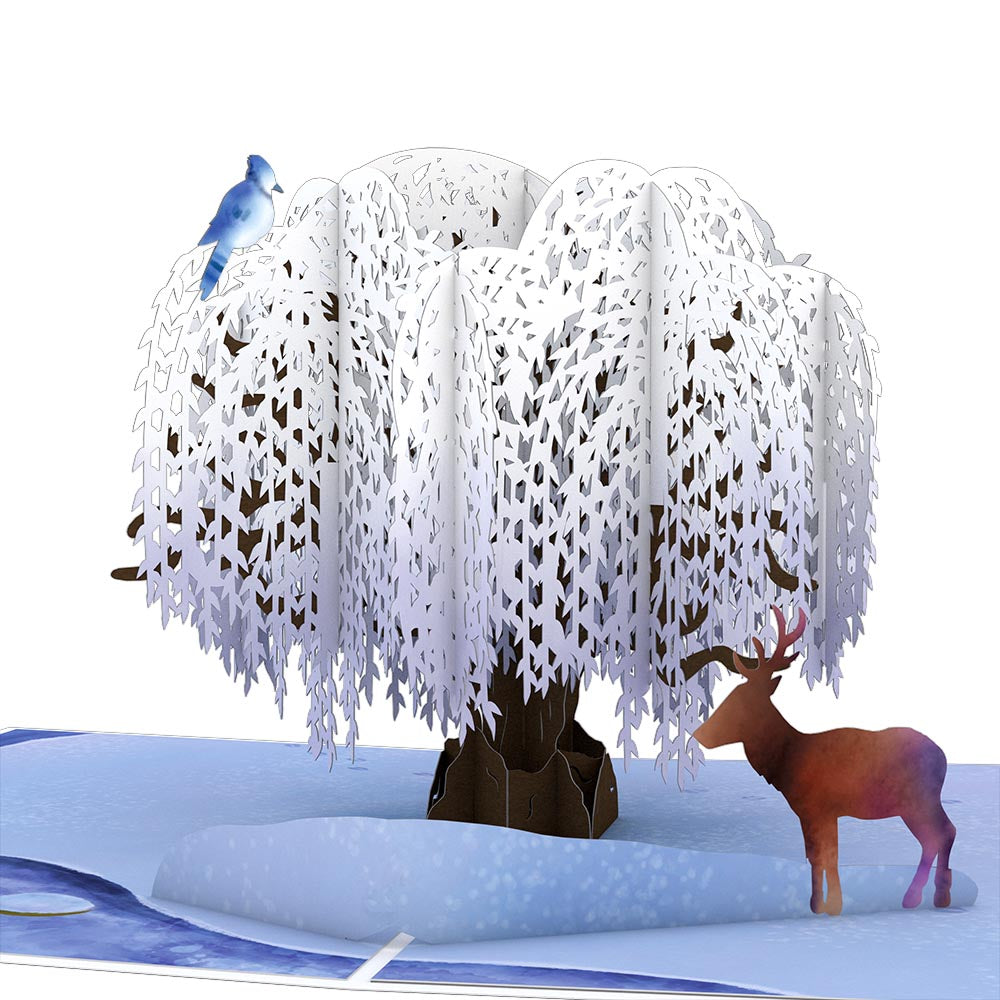 Winter Willow Tree Pop-Up Card