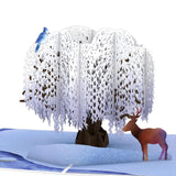 Winter Willow Tree                                   pop up card - thumbnail