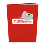 Star Wars™ The Mandalorian™ The Child: Valentine's Way                                   pop up card - thumbnail