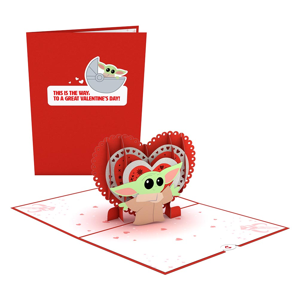 Star Wars™ The Mandalorian™ The Child: Valentine's Way             pop up card