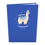Happy Llamakah                                   pop up card - thumbnail