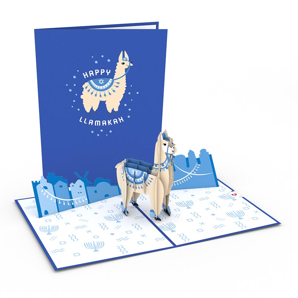 Happy Llamakah             pop up card