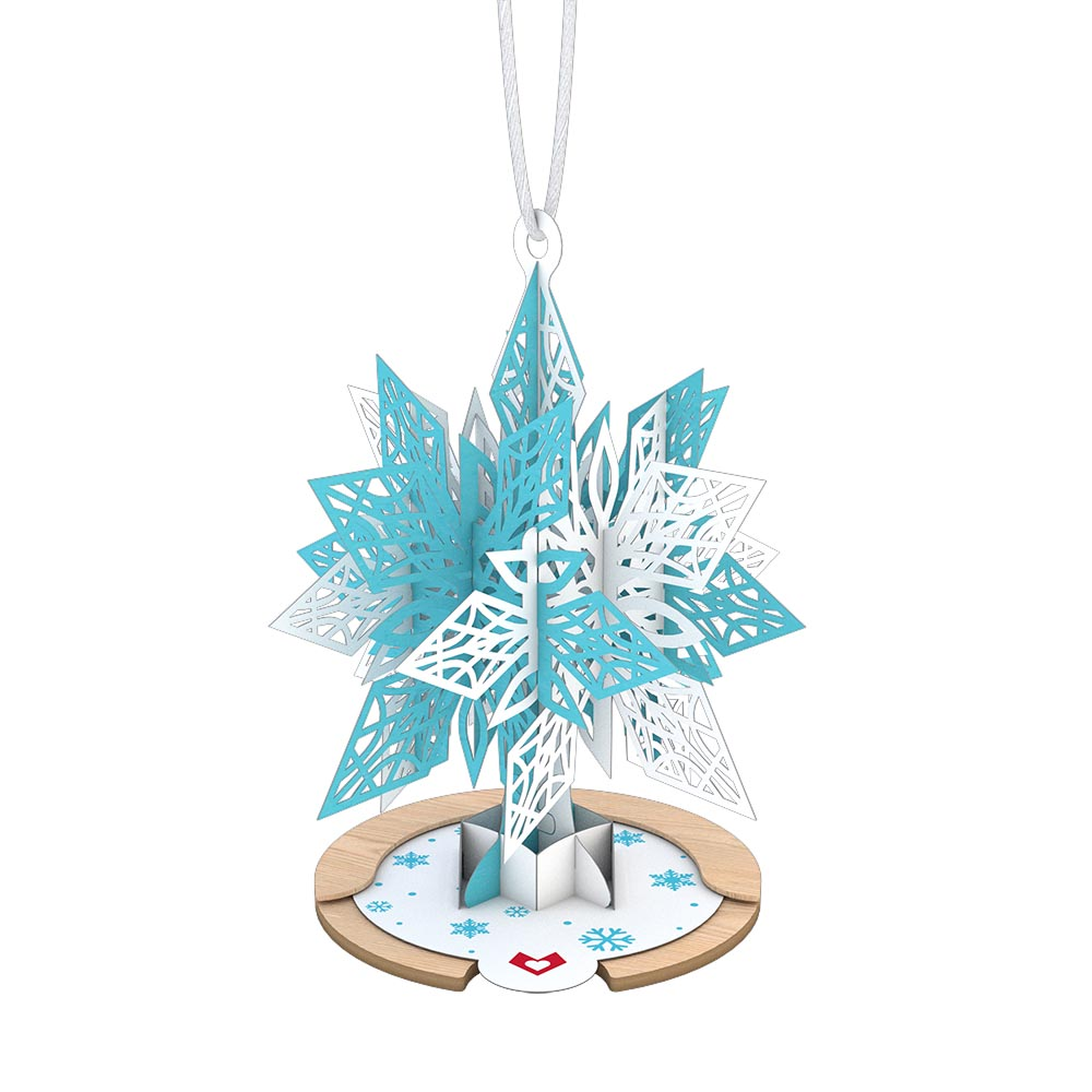 Blue Snowflake Ornament             pop up card