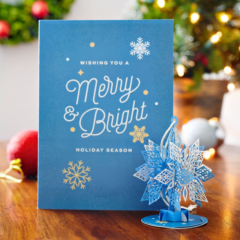 Snowflake Card with Ornament             pop up card