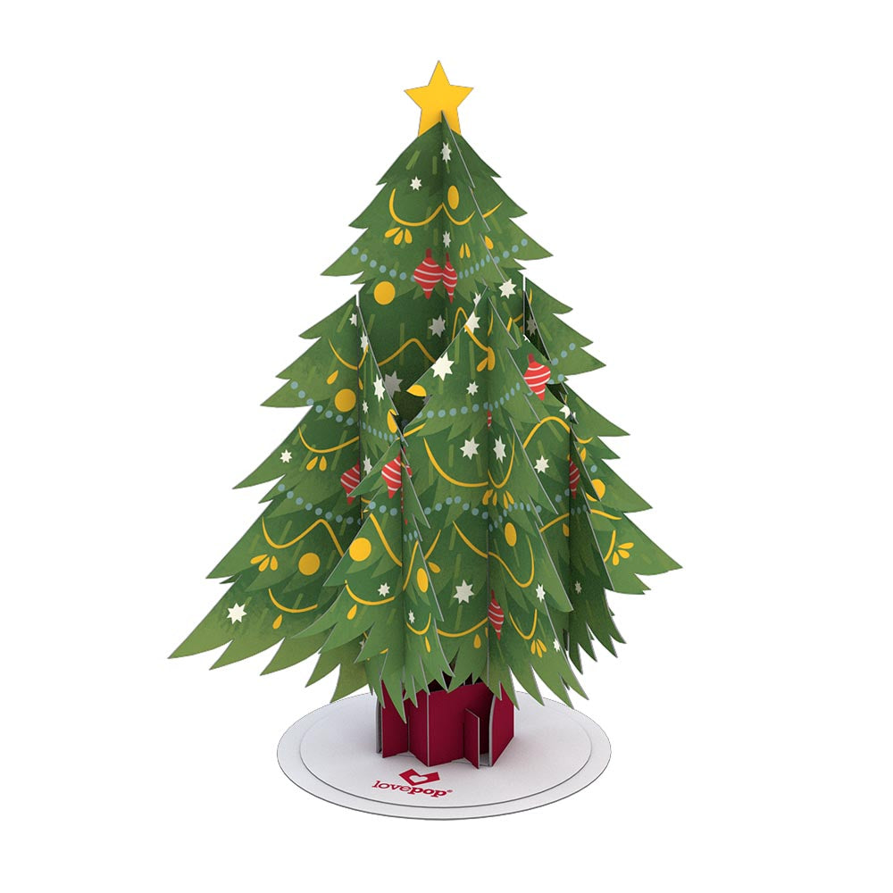 Stickerpop™: Festive Christmas Tree (5-Pack)             pop up card