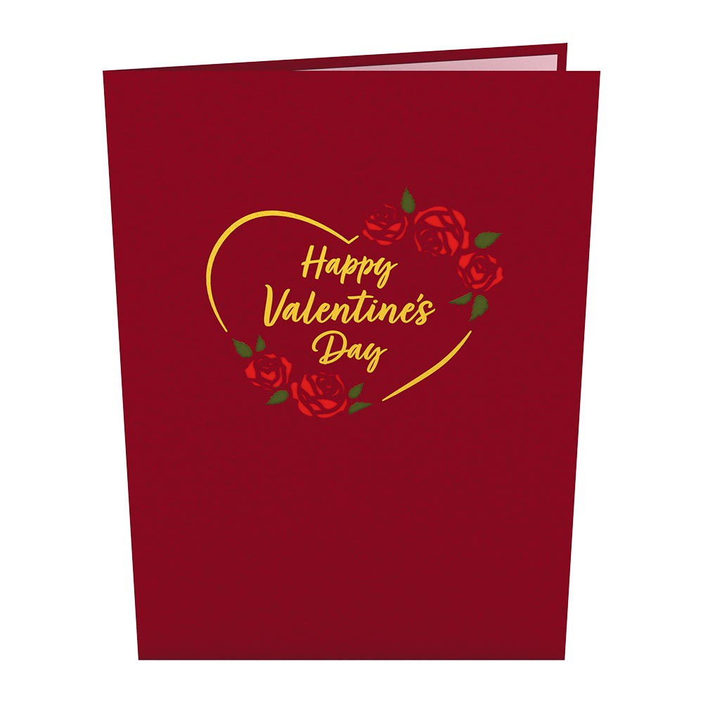 Red Rose Heart             pop up card