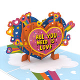 The Beatles All You Need is Love                                   pop up card - thumbnail