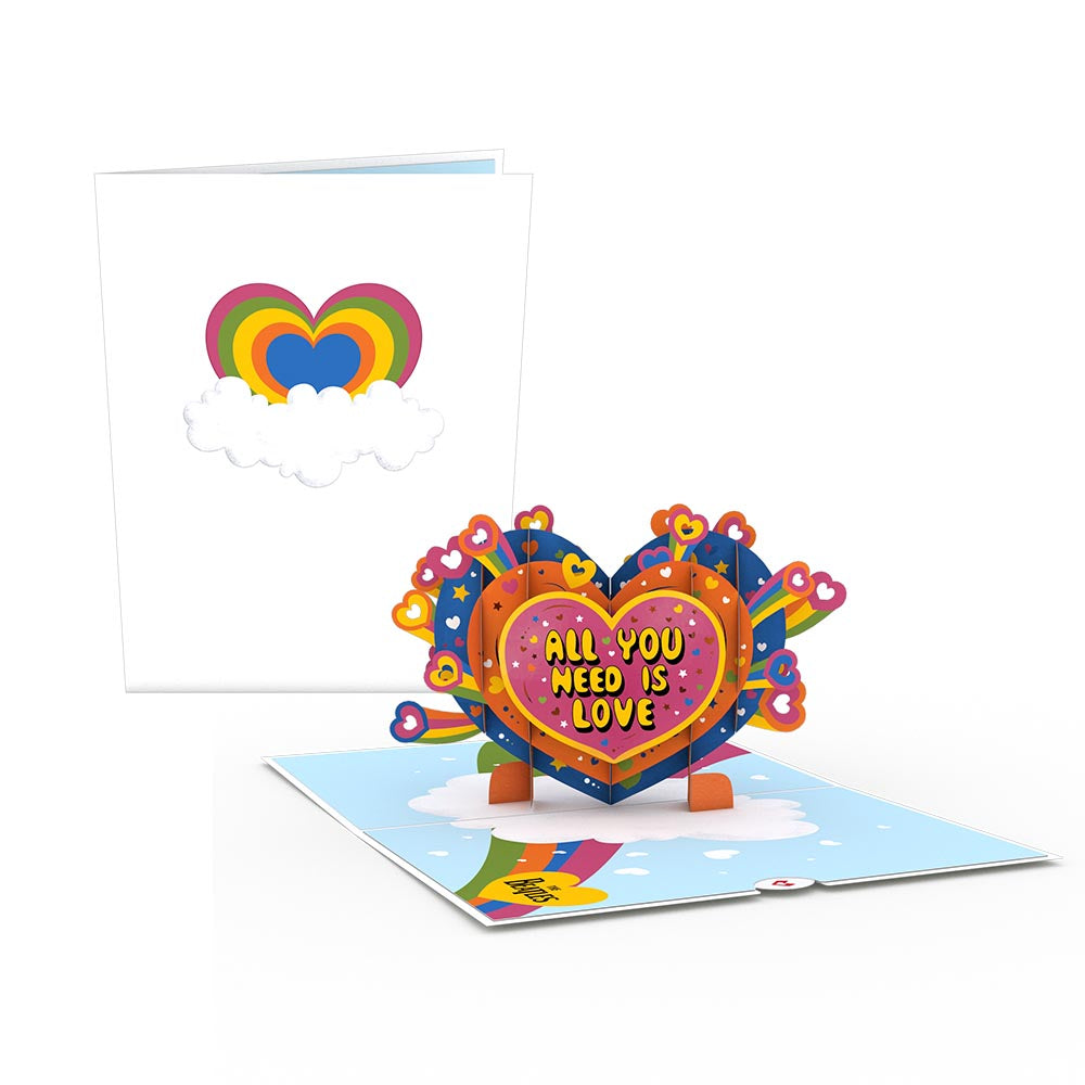 The Beatles All You Need is Love             pop up card