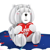 'Happy Valentine's Day' Bear                                   pop up card - thumbnail