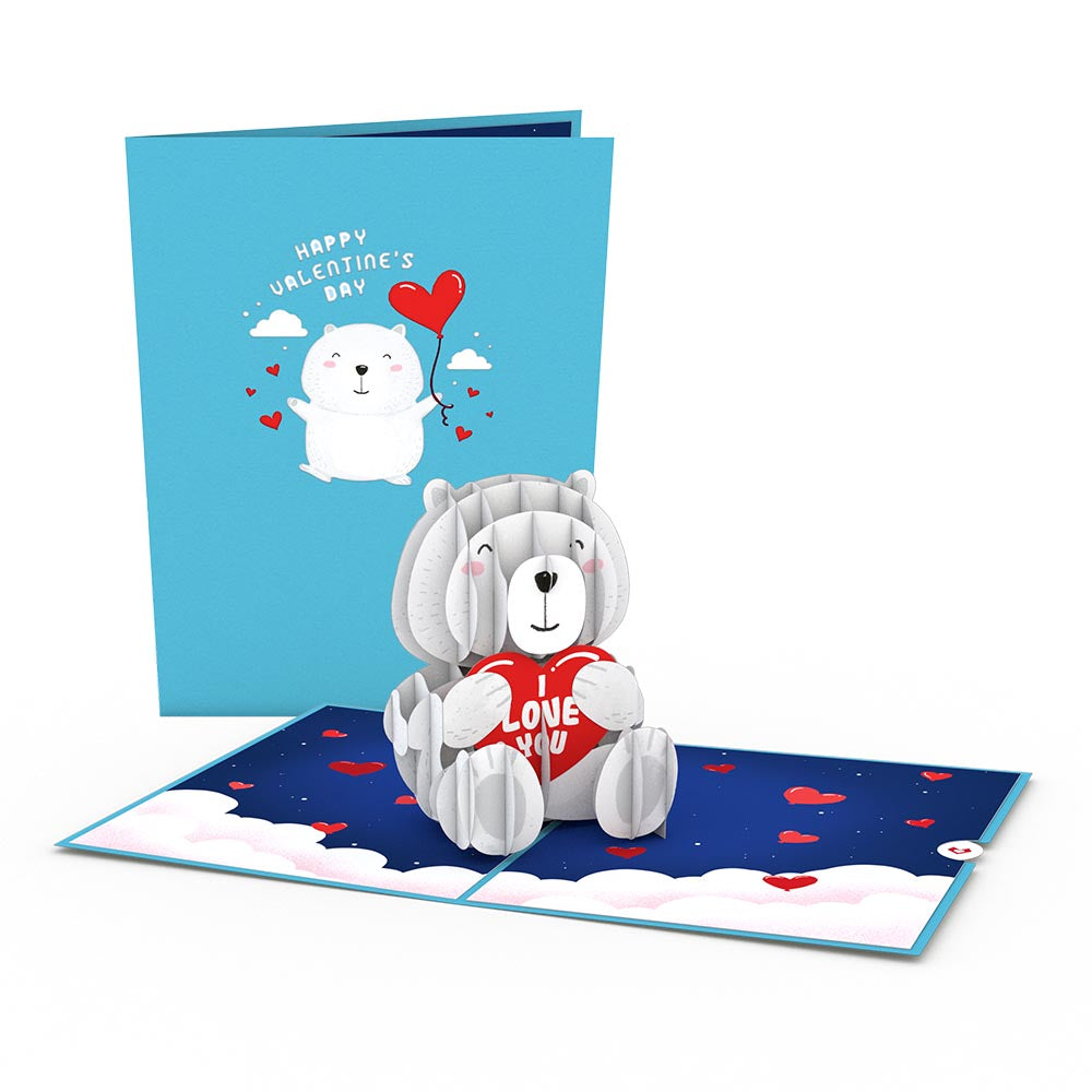 'Happy Valentine's Day' Bear             pop up card