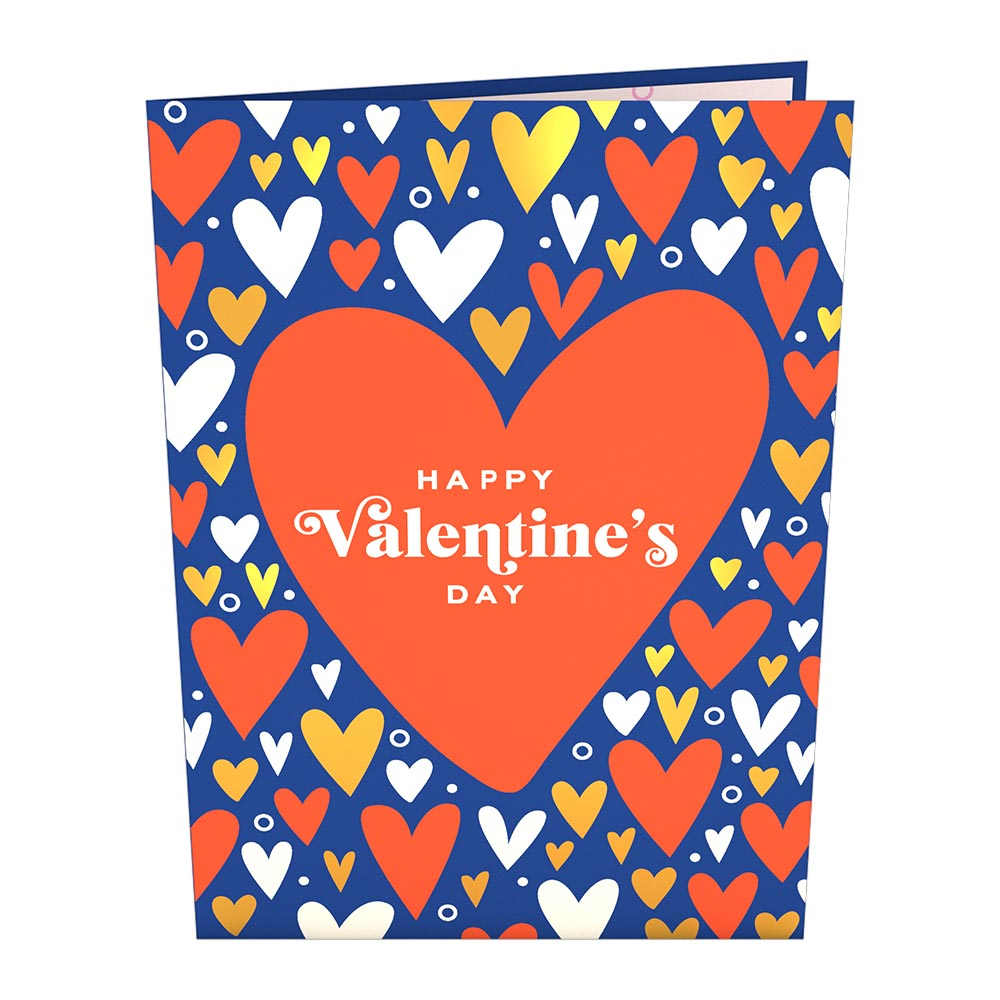Happy Valentine's Day Card with Mini Bouquet