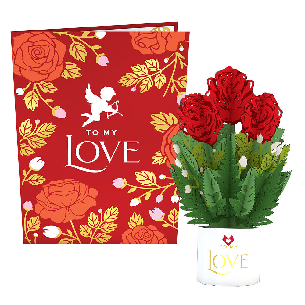 To My Love Card with Mini Bouquet