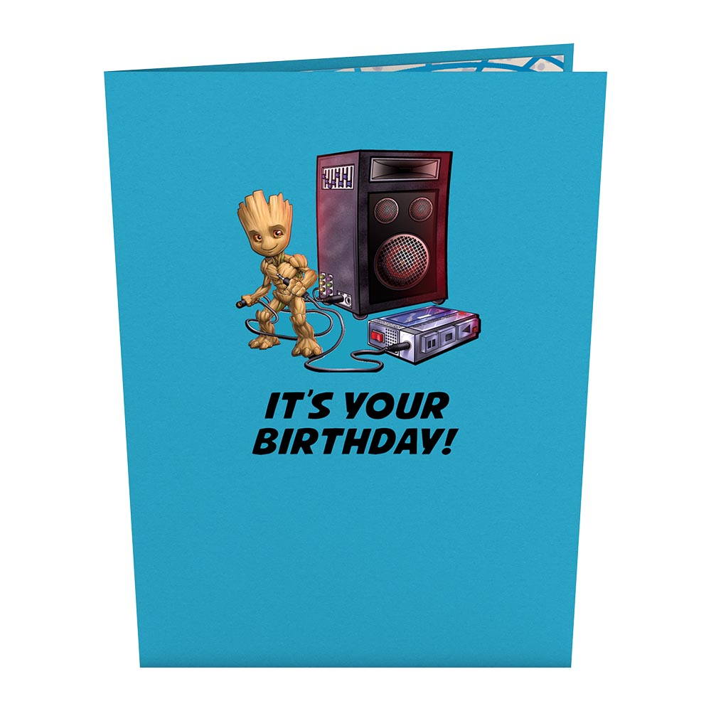 Marvel's Guardians of the Galaxy Galactic Birthday Pop-Up Card