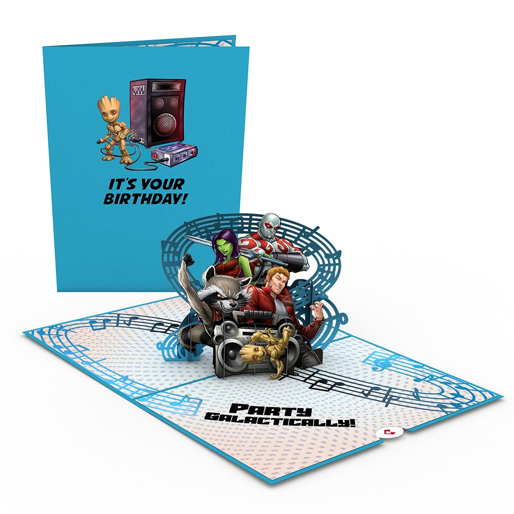 Marvel's Guardians of the Galaxy Galactic Birthday 3D card