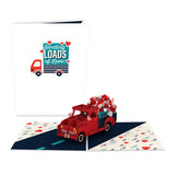 Truckloads of Love                                   pop up card - thumbnail