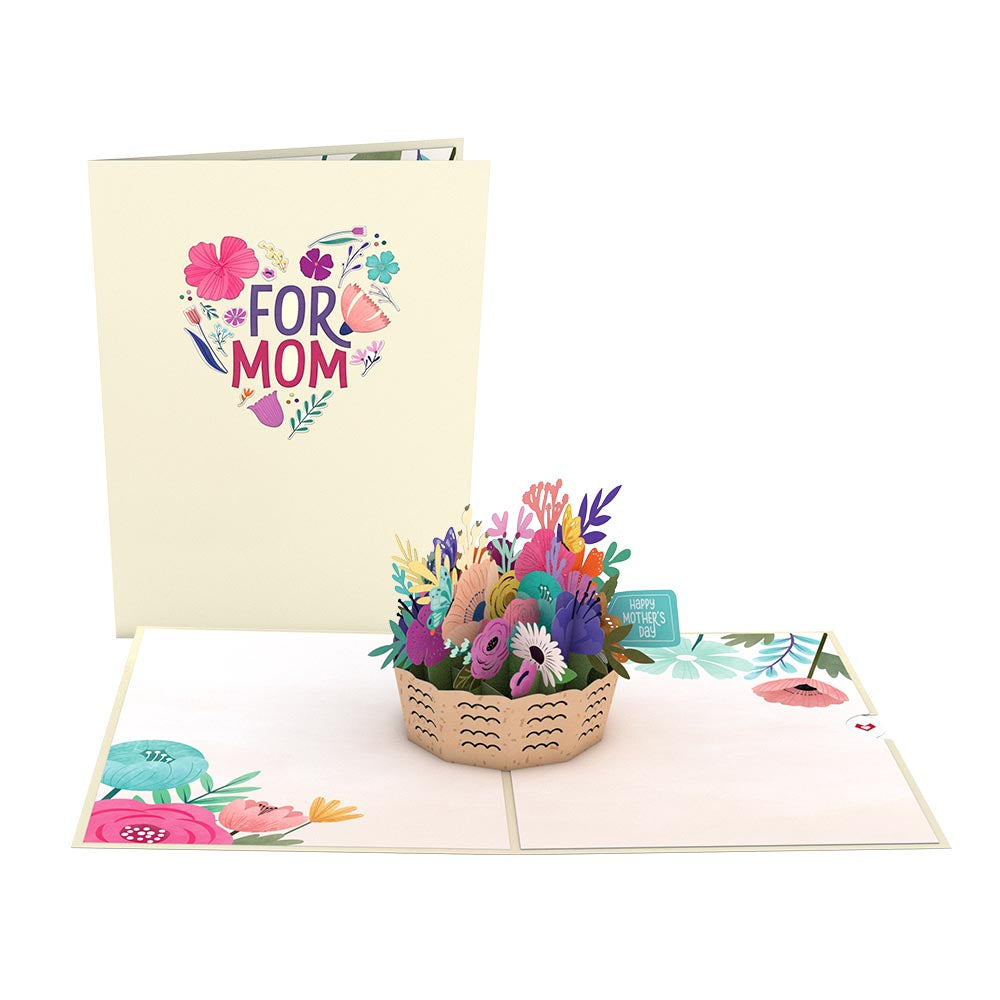 Mother's Day Basket 3D card