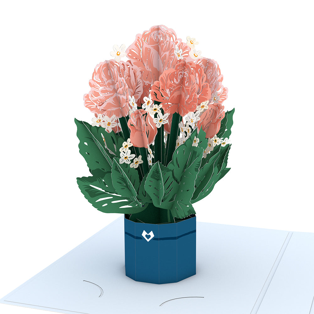 For My Wonderful Mother Card with Mini Bouquet
