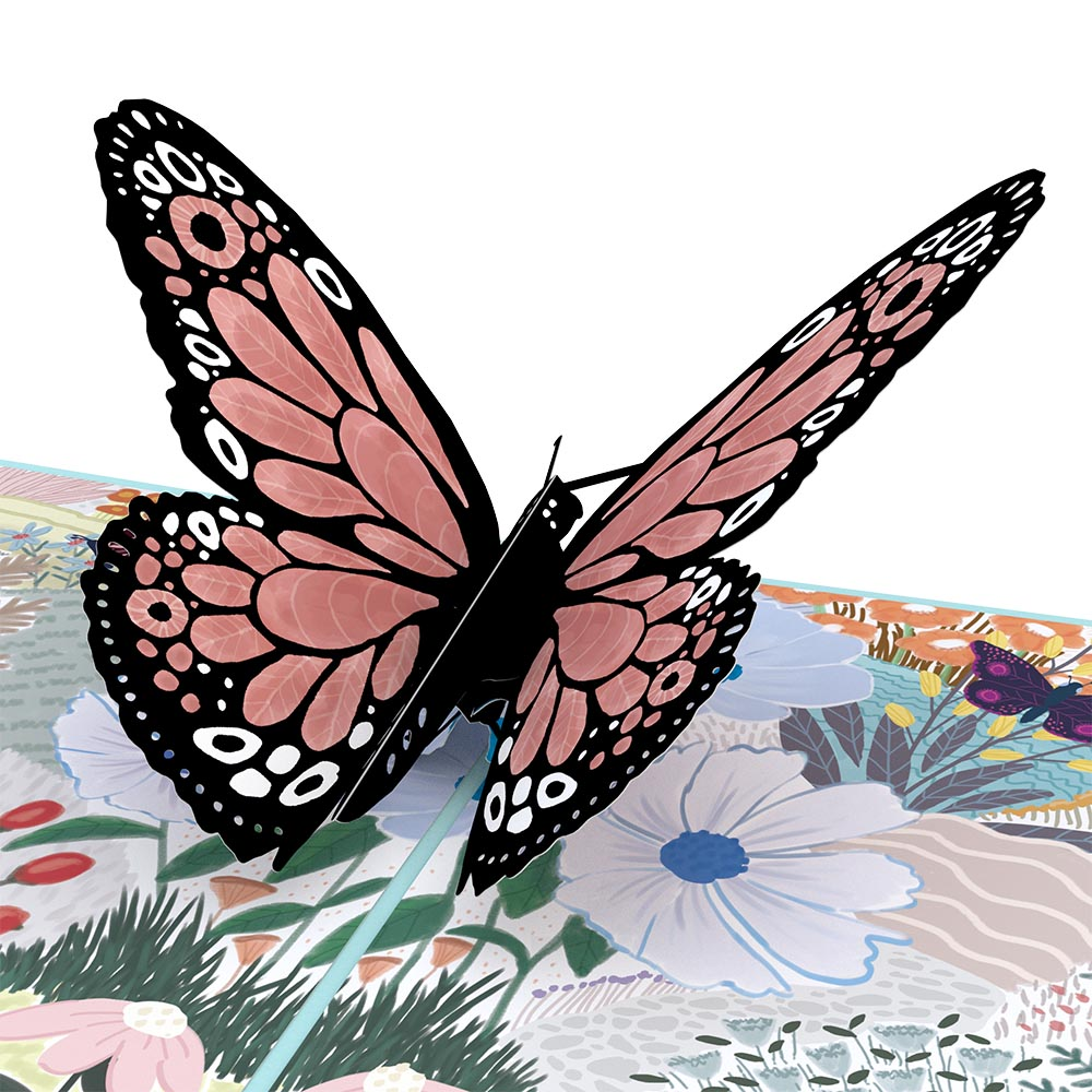 Floral Monarch Butterfly Pop-Up Card