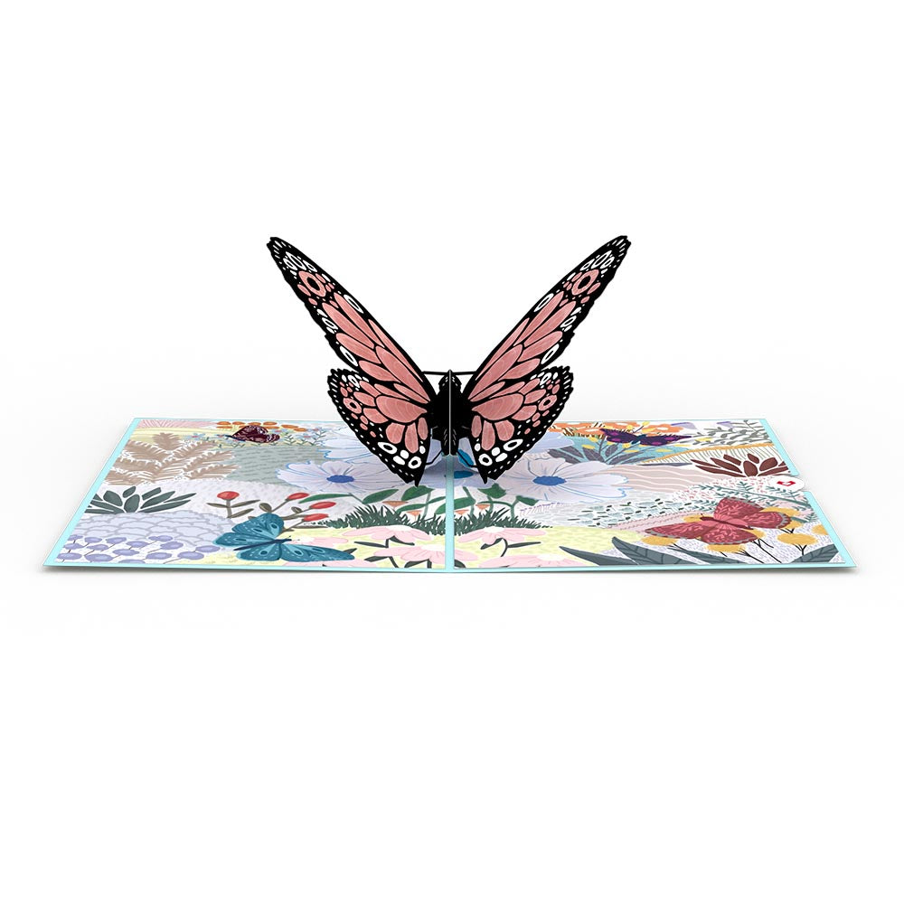 Floral Monarch Butterfly             pop up card