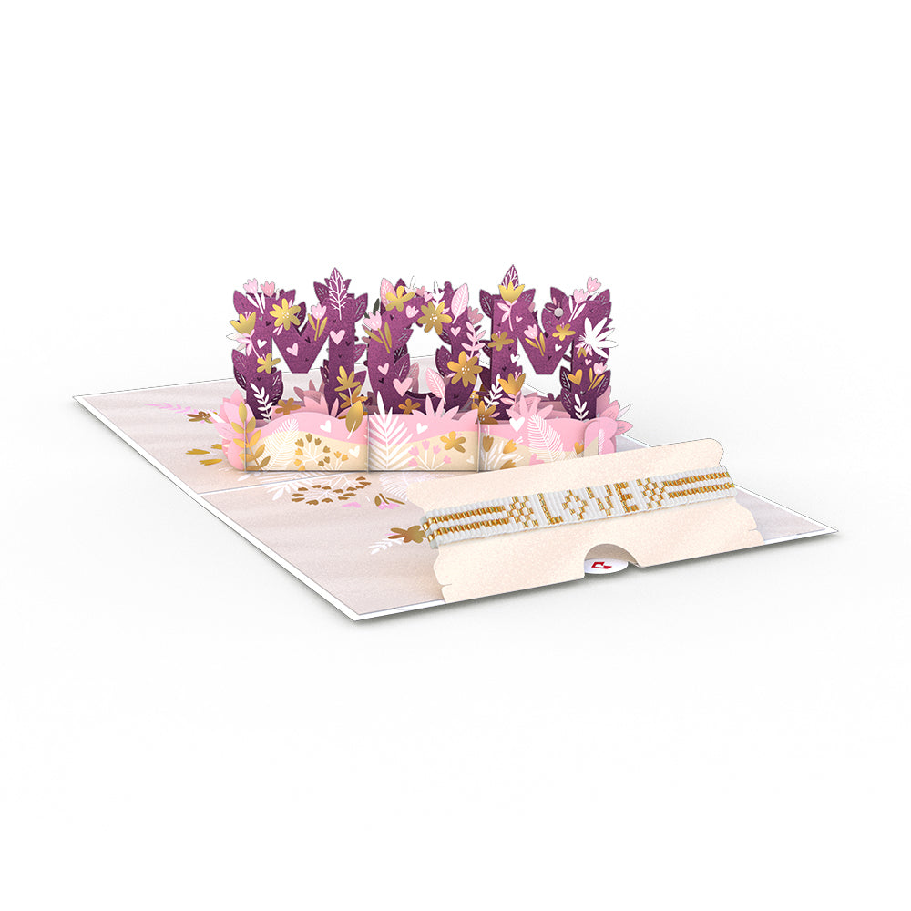 Love for Mom Dazzling Card with Bracelet             pop up card