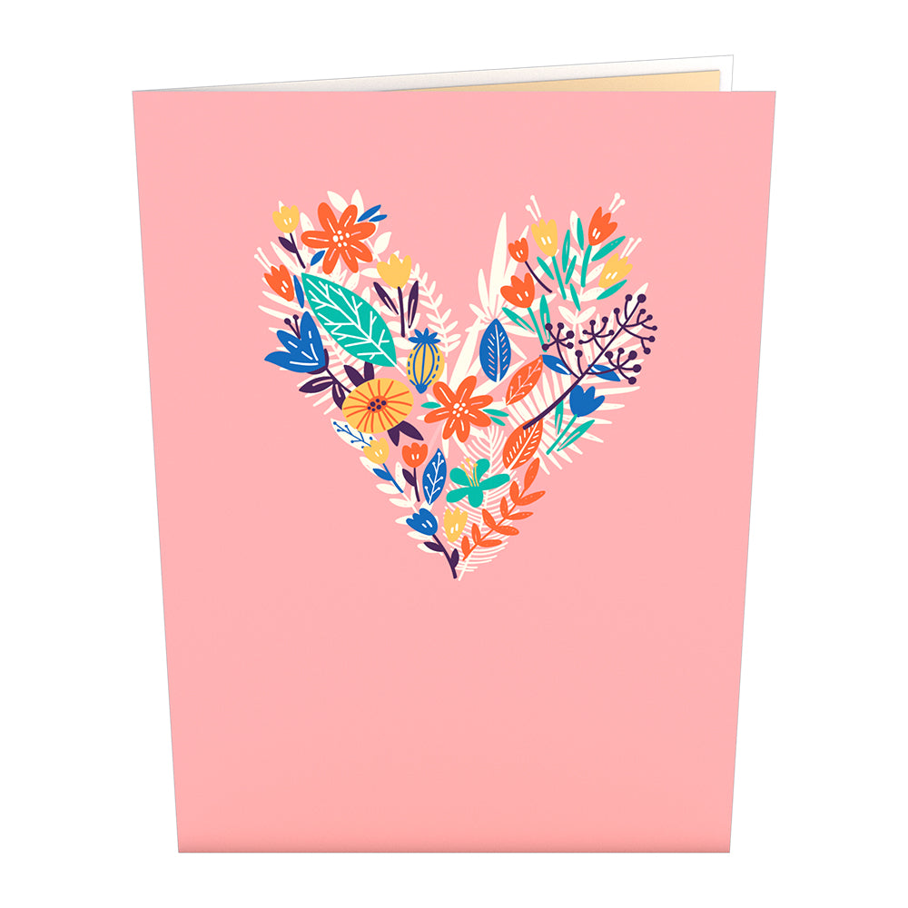 Love for Mom Vibrant Card with Bracelet             pop up card