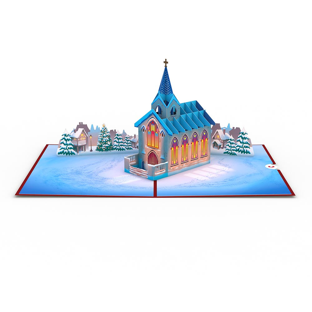 Stained Glass Christmas Chapel 3D card