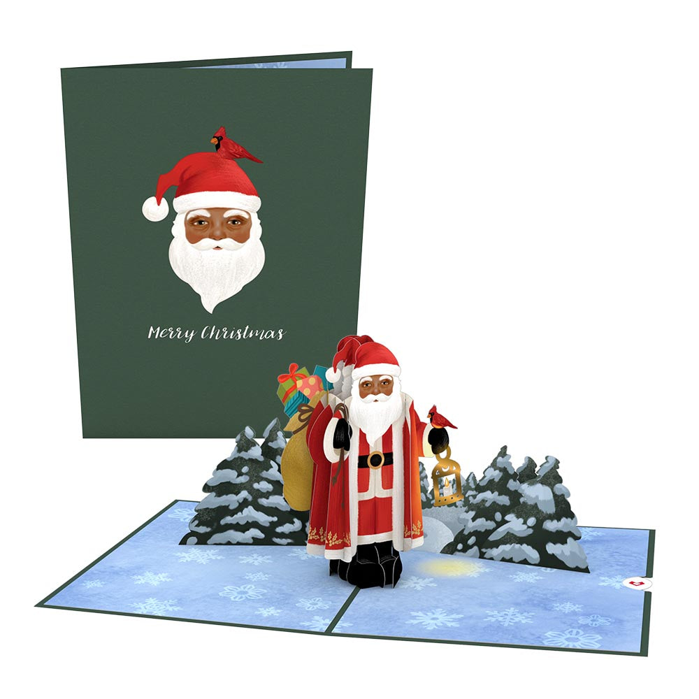 Santa with Toy Bag Pop-Up Card