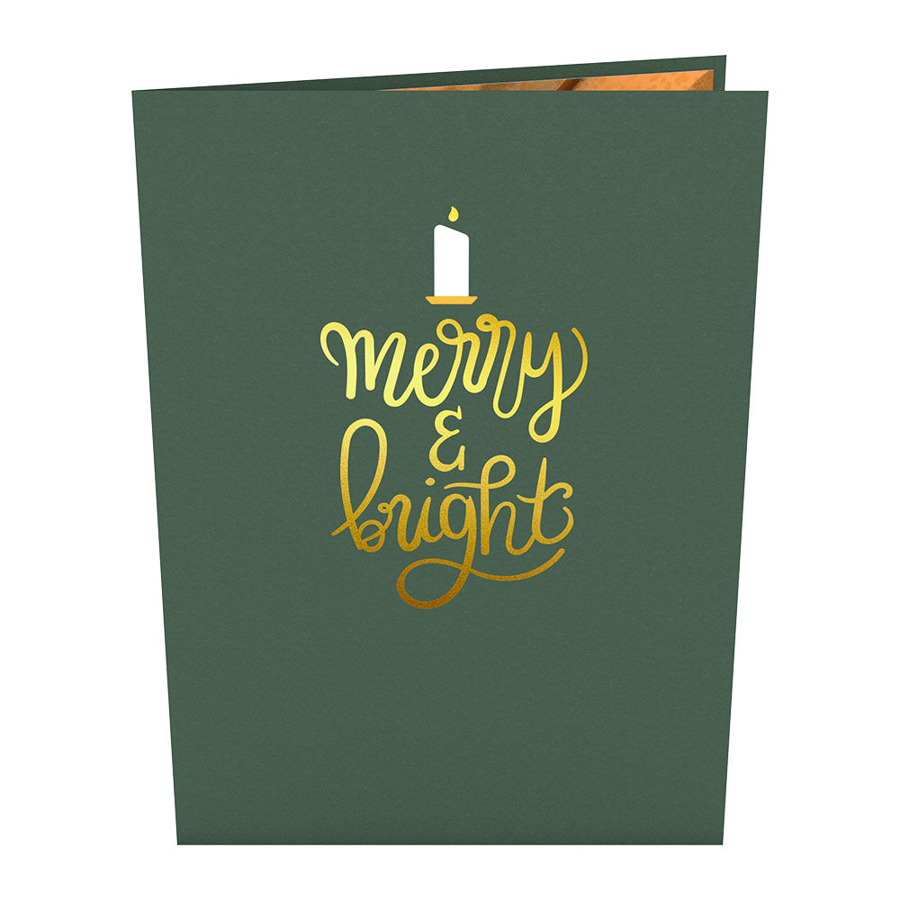 Merry & Bright Christmas Candle Pop-Up Card