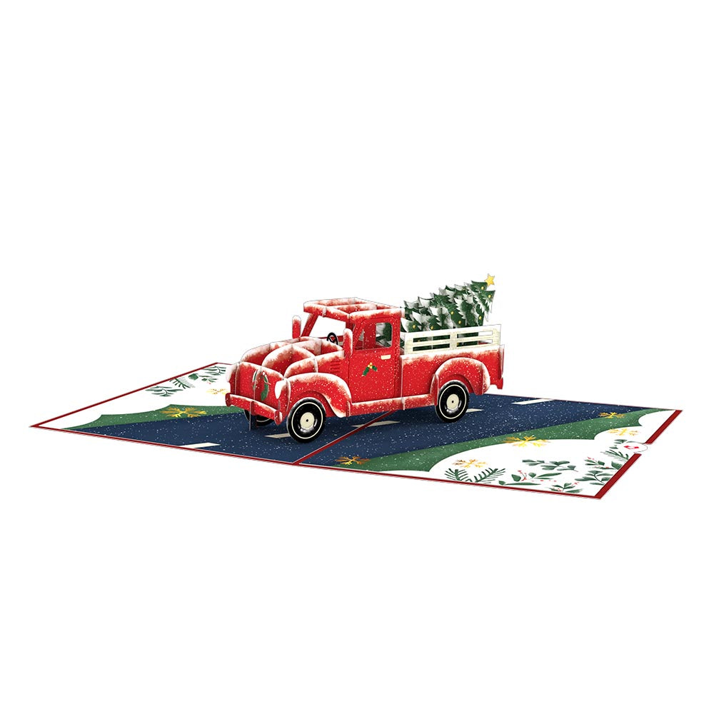Holiday Truck Pop-Up Card