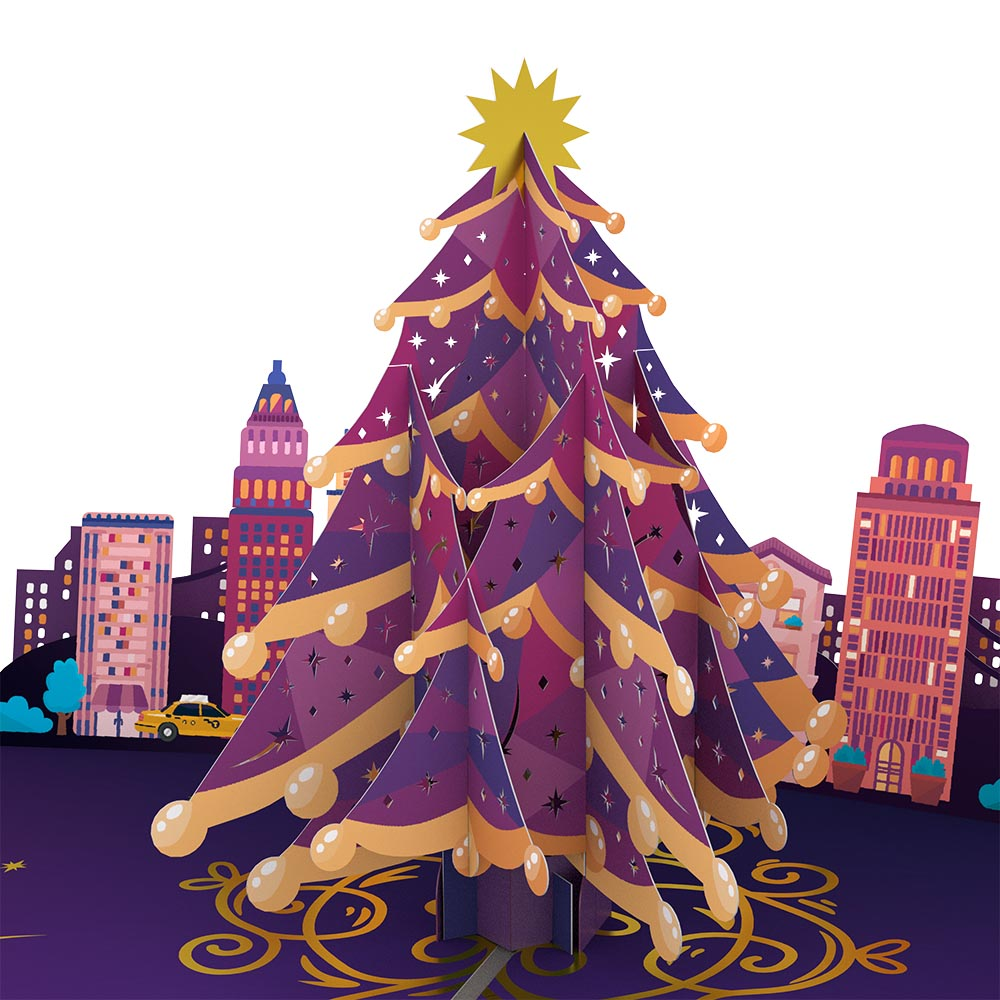 Christmas in the City Pop-Up Card