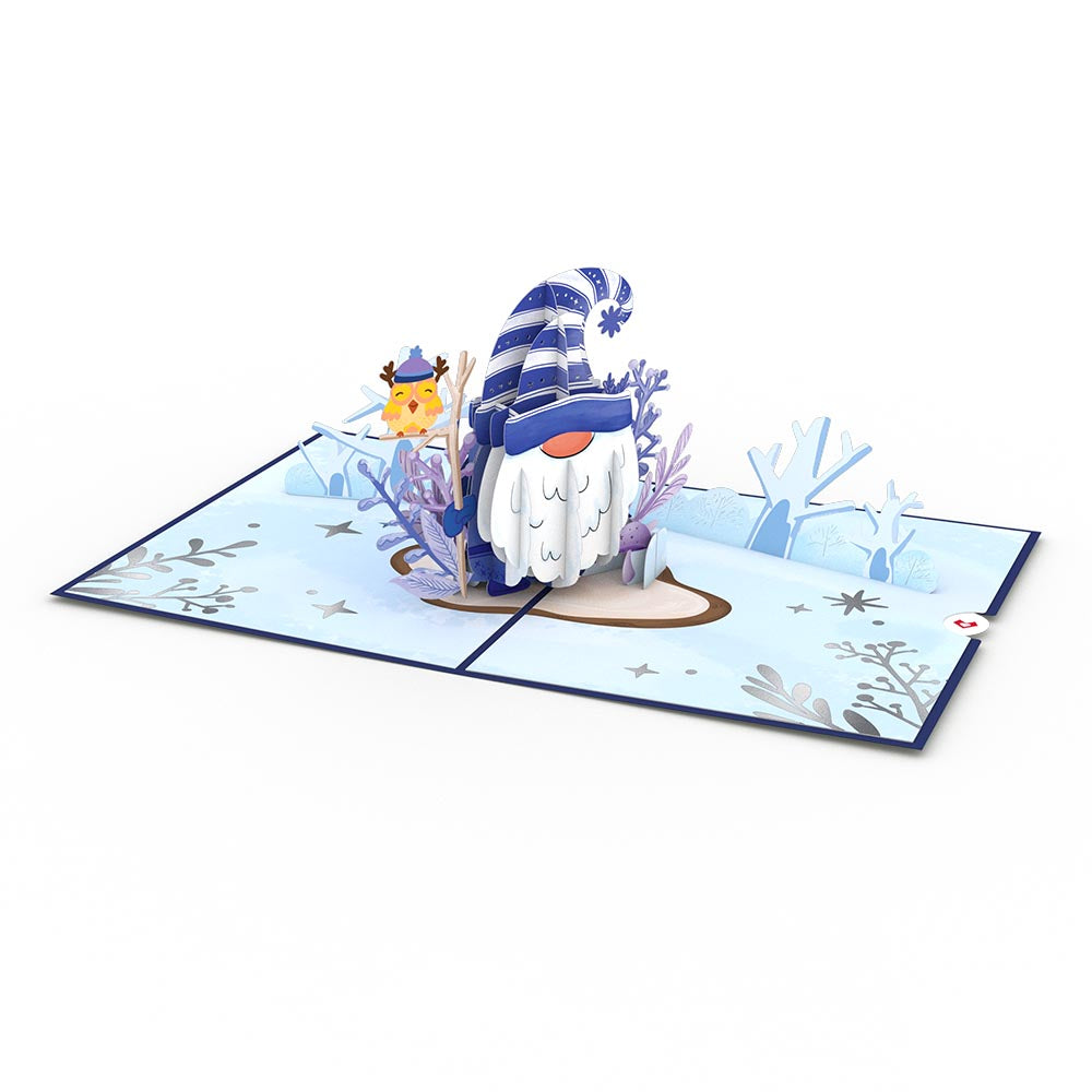 Happy Holidays Gnome Pop-Up Card