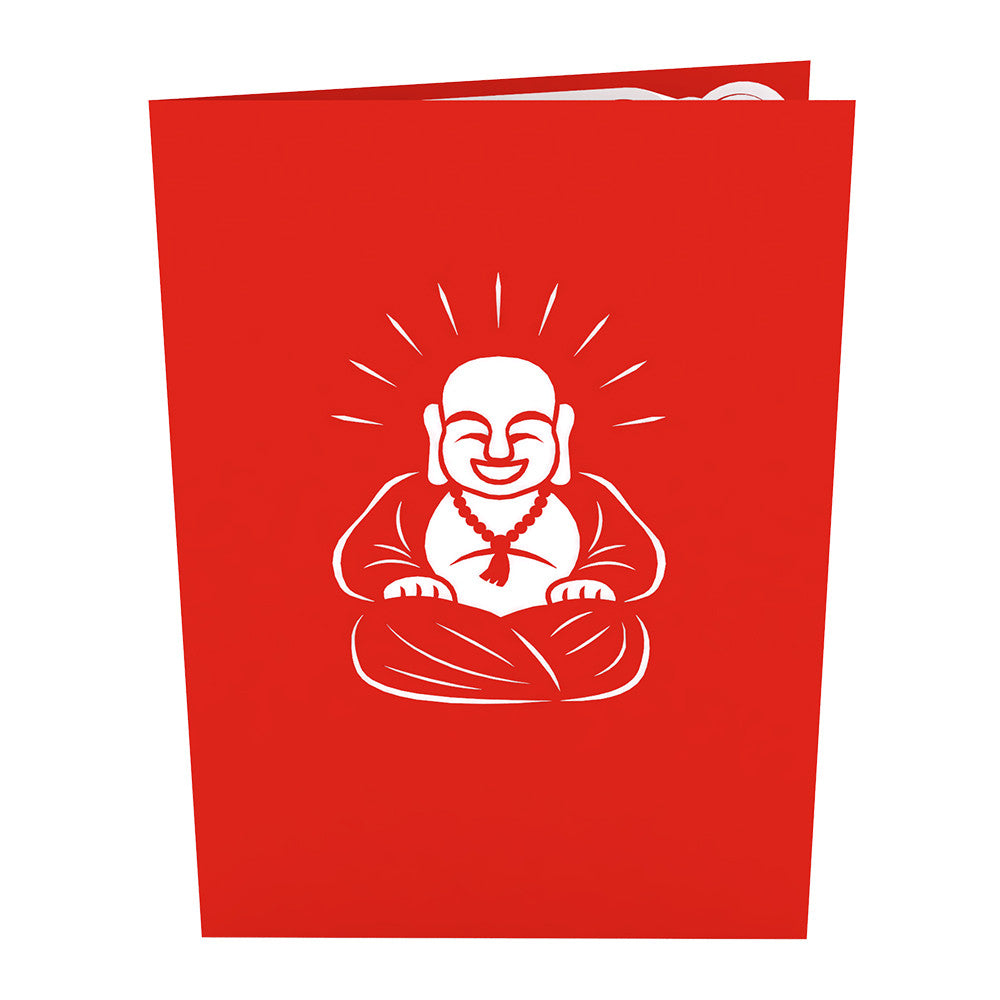 Laughing Buddha pop up card